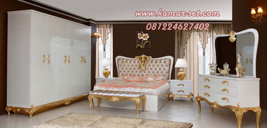 Set Kamar Putih Gold Romantic KSK-160