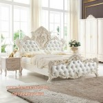 Set Kamar Tidur Royal Putih Ukiran Mewah