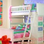 Tempat Tidur Anak Perempuan Tingkat Pelangi Cantik