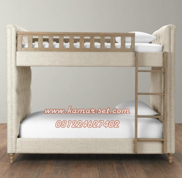 Tempat Tidur Susun Mewah Elegan Dari Depan