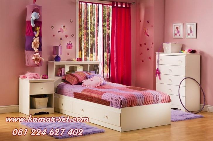Set Kamar Tidur Anak Perempuan Minimalis Modern Desain Terbaru