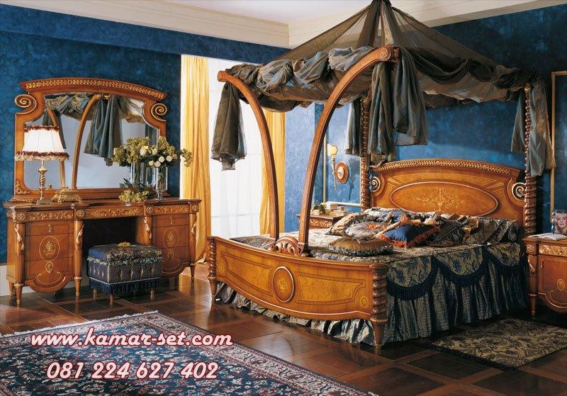 Set Tempat Tidur Kanopi Lengkung Ulir Terbaru