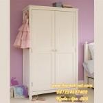 Almari Pakaian Anak 2 Pintu Panel Kotak