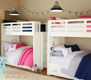 Ide Desain Kamar Tidur Tingkat Putih