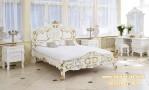 Kamar Tidur Racoco Ukir Jepara Gold Putih KSU-291