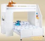 Kamar Tidur Susun Tangga Laci Starway Putih