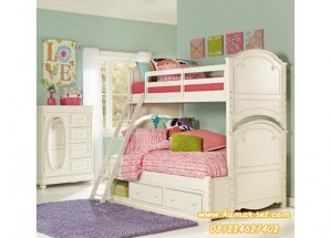 Kamar Tidur Tingkat Klasik Charlotte Twin Anak Kembar