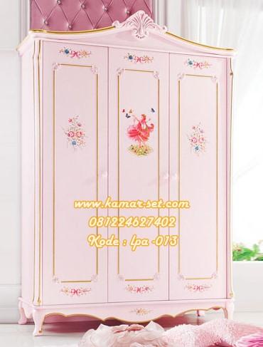 Lemari Pakaian Klasik Anak Perempuan Model Princess Pink