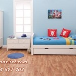 Set Kamar Tidur Anak Laki-Laki Minimalis Putih