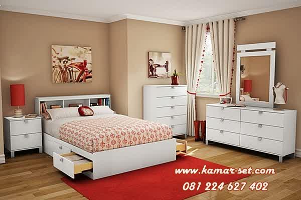 Jual Set R Tidur Remaja Minimalis Putih Egy Model Simple