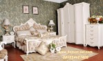 Set Ranjang Kamar Utama Putih Duco Model Klasik
