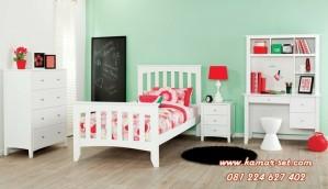 Set Tempat Tidur Murah Anak Laki-Laki Putih