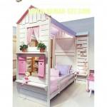 Tempat Tidur Tingkat Perempuan Model Rumah