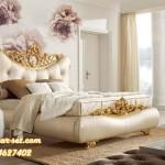 Tempat Tidur Utama Mewah Ukir Gold Full Jog KSU-286