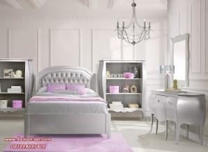 Tempat Tidur Klasik Silver Anak Remaja Perempuan