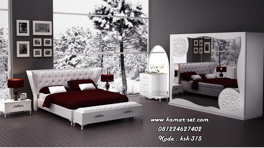 Desain Kamar Tidur Mewah Putih
