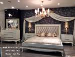 Set Kamar Tidur Ukir Minimalis Gold Duco Queen