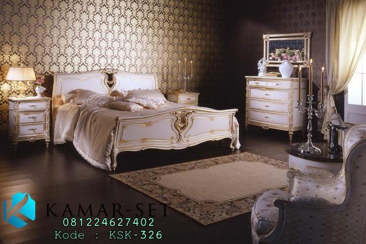 Tempat Tidur Klasik Set Gold Duco