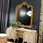 Meja Rias Set Tempat Tidur Gold Beutifull Design