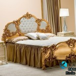 Set Tempat Tidur Gold Beutifull Design