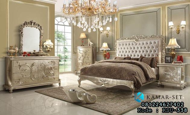 Set Tempat Tidur Silver Klasik Zylphia Royal