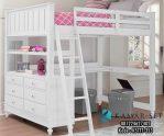 Tempat Tidur Loft Bed Anak Putih