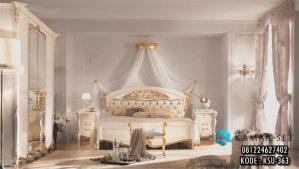 Set Tempat Tidur Gold Ivory Mewah