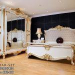 Tempat Tidur Klasik Mewah Terbaru Lengkap KSK-383, Ranjang Pengantin, Kamar set utama