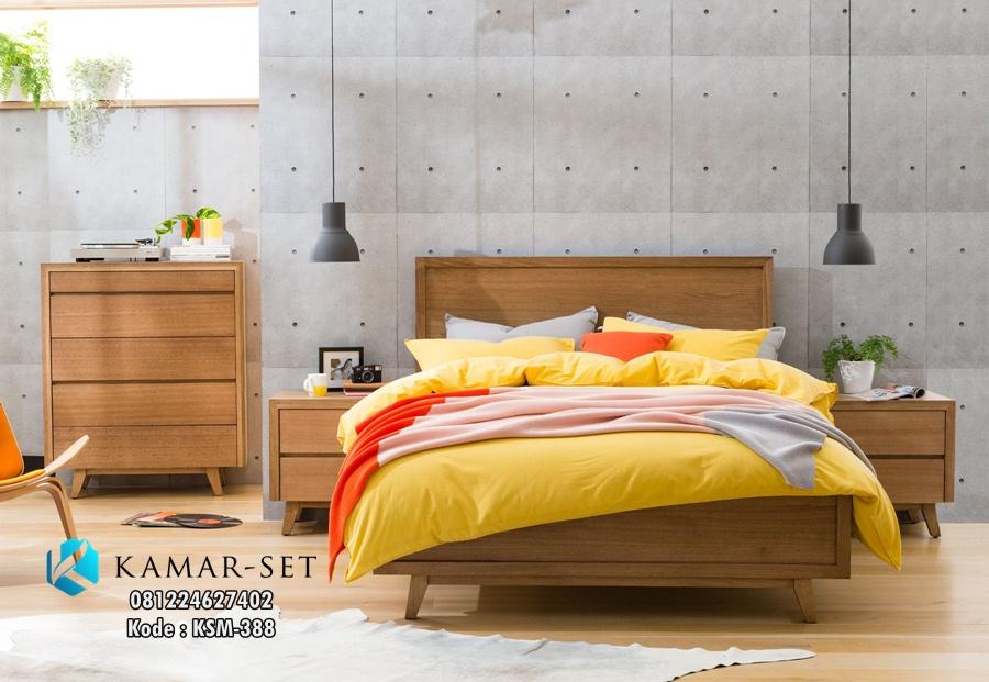 Tempat Tidur Retro Modern Kayu Jati KSM-388