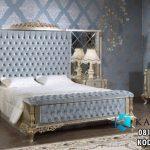 Tempat Tidur Mewah Classic Ukir Gold Silver