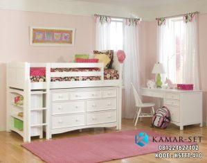Tempat Tidur Tingkat Anak Meja Belajar
