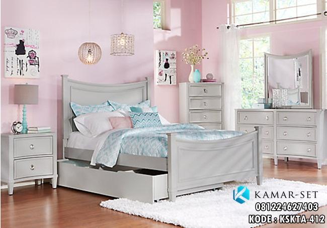 Tempat Tidur Anak Perempuan Grey Jaclyn