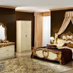 Set Ranjang Pengantin Baroco Putih Gold KSK-433