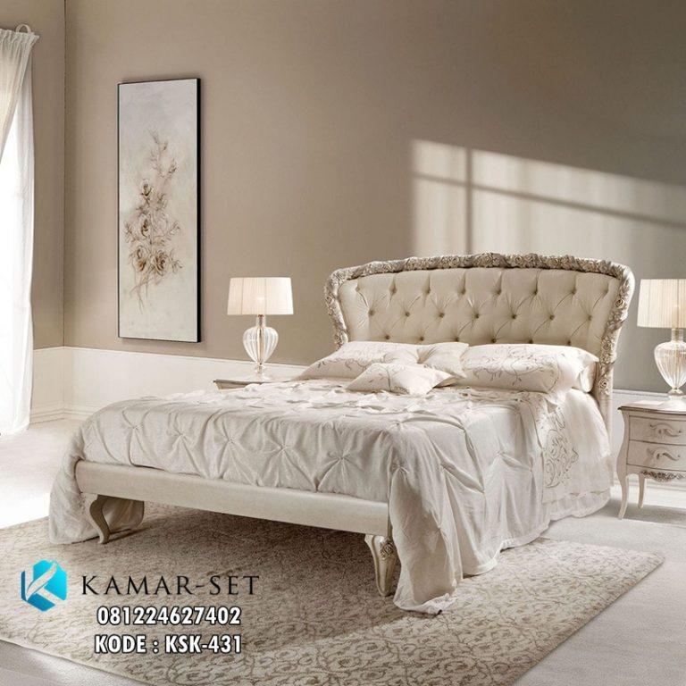 Tempat Tidur Klasik Ukir Mawar KSK-431