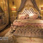 Tempat Tidur Mewah Klasik Ukir Italian KSK-436