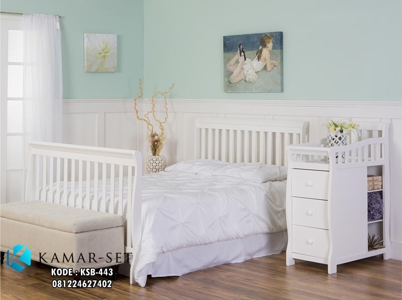 Tempat Tidur Bayi Murah Convertible Jadi Ranjang Anak