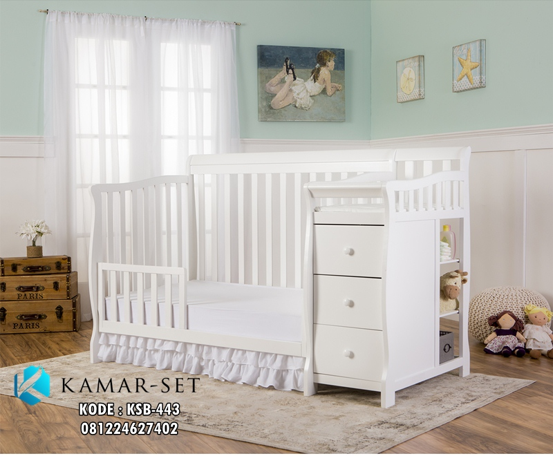 Tempat Tidur Bayi Murah Convertible Pagar Terbuka