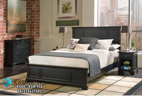 Tempat Tidur Minimalis Kasur Quenn Black Doff