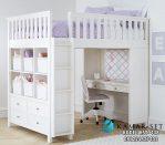 Tempat Tidur Tingkat Minimalis Putih Elegan