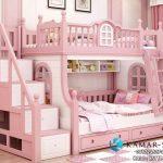 Tempat Tidur Tingkat Anak Terbaru Pink Putih