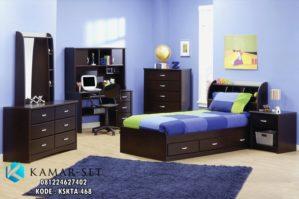 Set Tempat Tidur Anak Minimalis Meja Belajar KSKTA-448