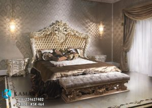 Set Tempat Tidur Luxury Klasik Ukiran Eropa KSK-464
