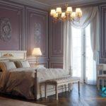 Tempat Tidur Klasik Modern Putih Gold KSK-462