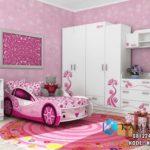 Tempat Tidur Mobil Anak Perempuan Satu Set