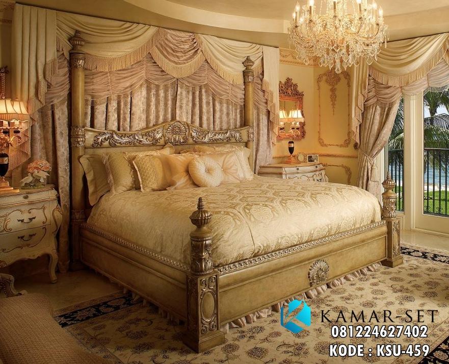 Tempat Tidur Pengantin Mewah Klasik Ukiran Luxurius