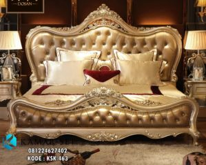 Tempat Tidur Ukir Mewah Gold KSK-463