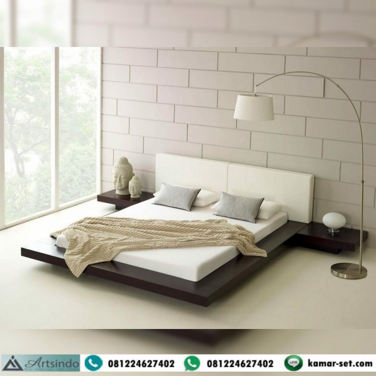Tempat Tidur Minimalis Jati Super Model Kasur Pendek