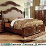 Tempat Tidur Kayu Jati Model Klasik Antique